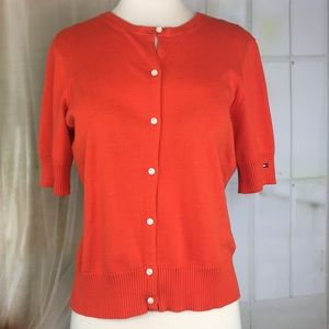 Tommy Hilfiger Orange Short Sleeved Cardigan
